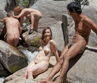 Groups of nudists with age difference -  Damsel Nudists